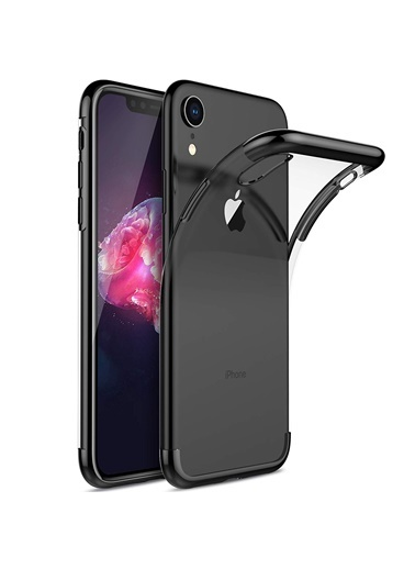 Microsonic iPhone XR (6.1'') Kılıf Skyfall Transparent Clear  Siyah